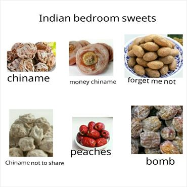 Indian sweets for bedroom use