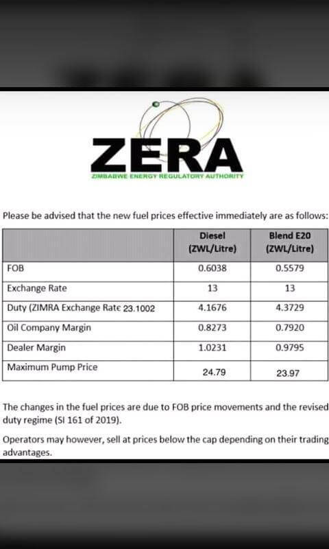 fake fuel price increase from Zera