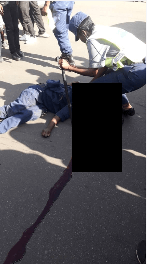 Police crushed to death