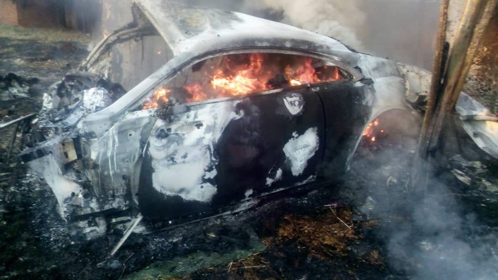 ginimbies dies in car crash and fire