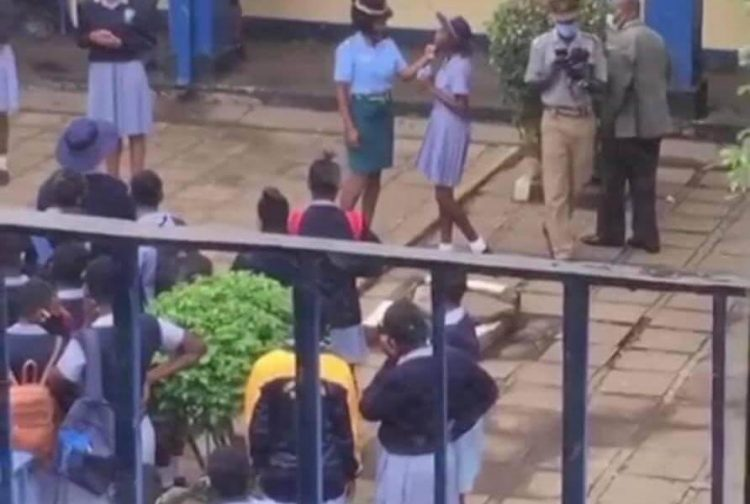 Police Officer assaults School Kids