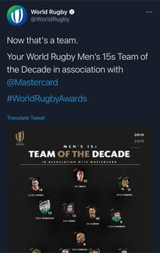 Rugby Team Of The Decade