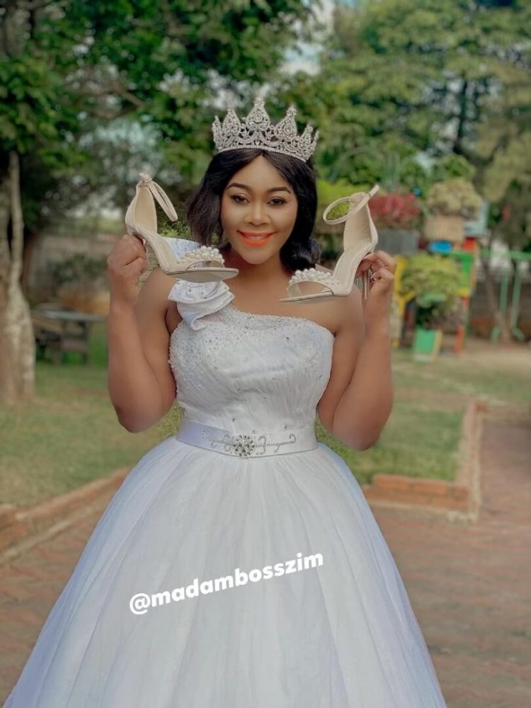 Madam boss rocks wedding gown