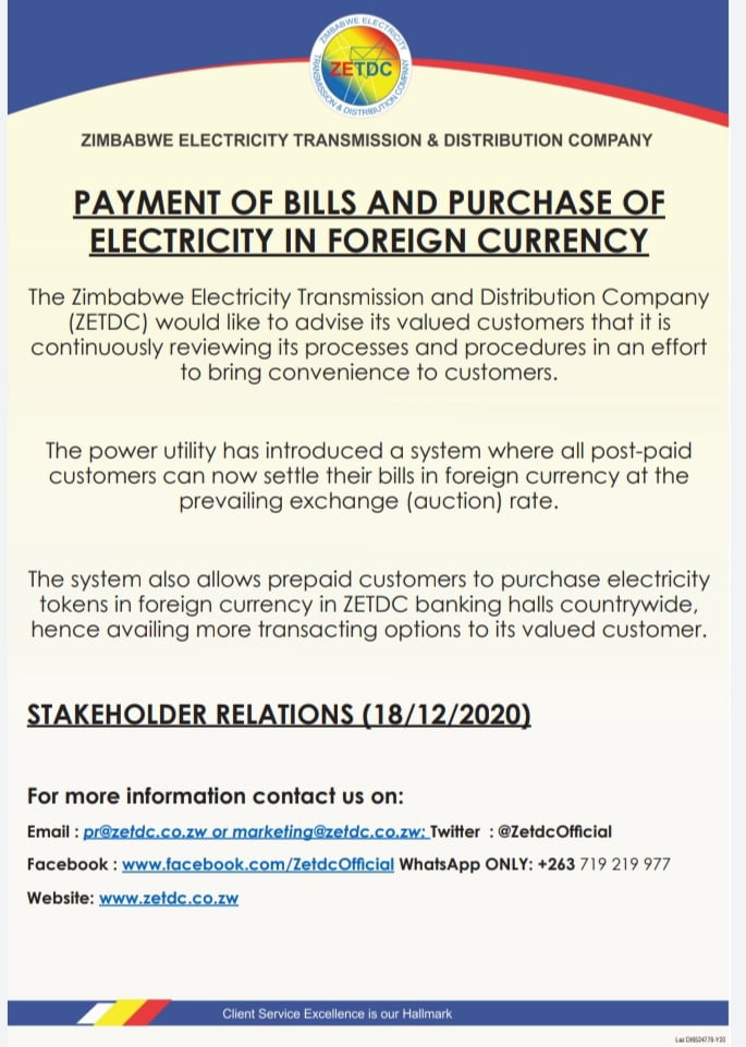 Pay for Zesa In Forex